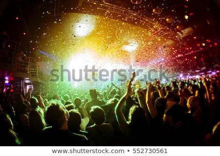 Wesoły fanów taniec nightclub festiwal muzyczny full frame Zdjęcia stock © wavebreak_media