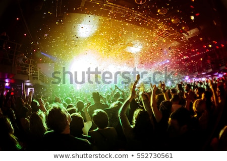 Tifosi dancing discoteca festival di musica full frame Foto d'archivio © wavebreak_media