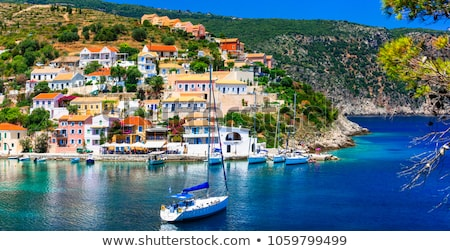Sunny colorful Greece - picturesque village Assos in Kefalonia island Stock photo © Freesurf
