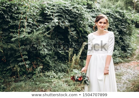 Piękna dziewczyna zielone zasłona piękna młoda kobieta Zdjęcia stock © svetography