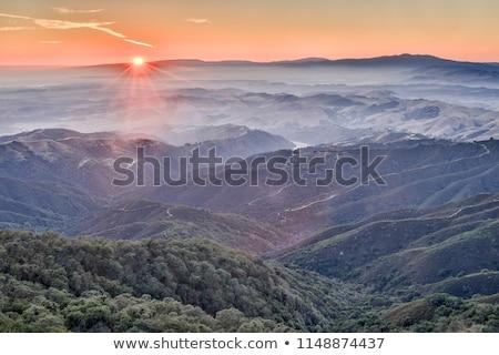 日没 ピーク 公園 太陽 風景 日の出 ストックフォト © yhelfman