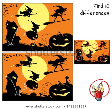 encontrar · diez · diferencias · dos · halloween - foto stock © ddraw