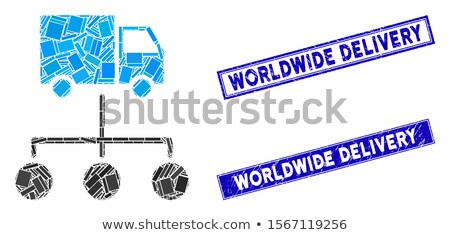 LKW Verteilung Links Vektor Symbol Illustration Stock foto © ahasoft