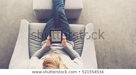 ebook · leitor · preto · escolas · tela · estudar - foto stock © digitalr