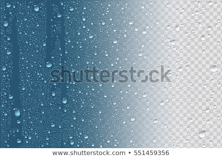 autumn blue water background rain drops on blue sky reflection stock photo © konstanttin