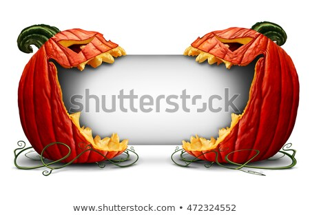 Jack o lantern Blank signage Stock photo © Lightsource