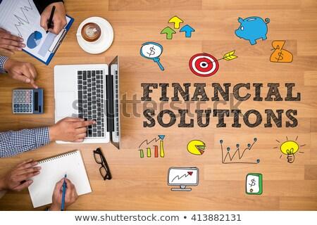финансовых решения папке расплывчатый изображение 3D Сток-фото © tashatuvango