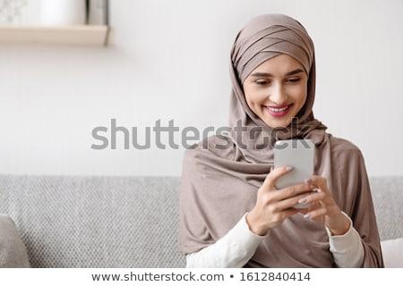 Muçulmano mulher tiro oração miçanga Foto stock © LightFieldStudios