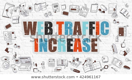 web traffic increase in multicolor doodle design stock photo © tashatuvango