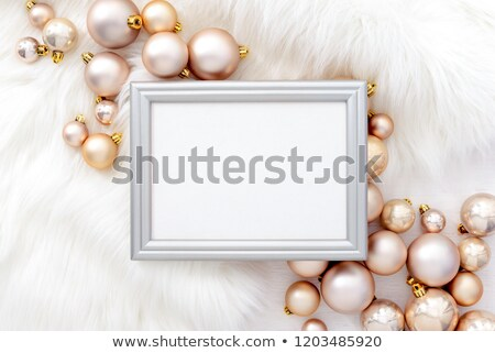 Karácsony ünnepek fehér szőr másolat copy space Stock fotó © Konstanttin