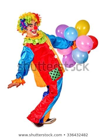 Grappig man clown geïsoleerd witte partij Stockfoto © Elnur