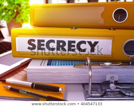 Citromsárga gyűrű felirat titkolózás dolgozik asztal Stock fotó © tashatuvango