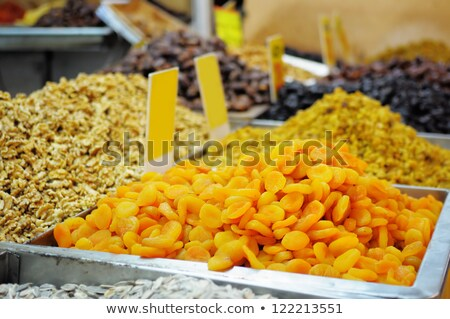 market stall selling dried fruit nuts stock photo © smartin69