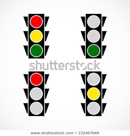 Piros fény stop jelzőlámpa kék ég Stock fotó © 5xinc