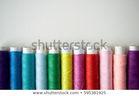 csetepaté · színes · fonál · asztal · kézimunka · varr - stock fotó © dolgachov