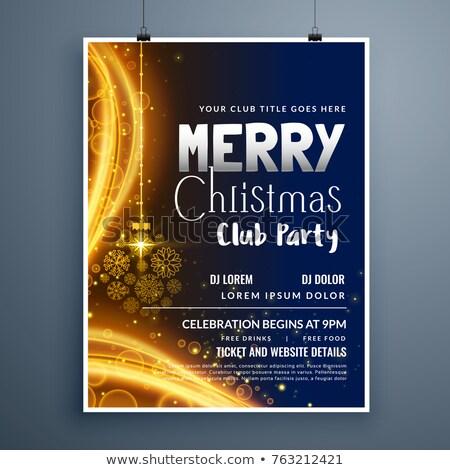 Klassz karácsony buli poszter sablon terv Stock fotó © SArts
