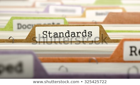 Folder in Catalog Marked as Standards. Stock photo © tashatuvango