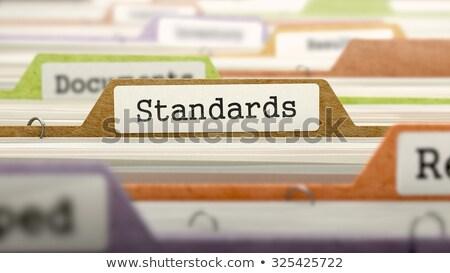 folder in catalog marked as standards stock photo © tashatuvango