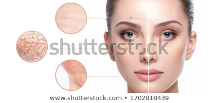 saludable · piel · cuidado · de · la · piel · mujer · hermosa · perfecto · posando - foto stock © hsfelix