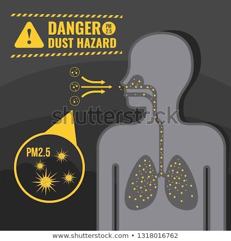 Mérgező szennyezés bent emberi test eszik Stock fotó © Lightsource
