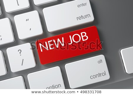 new job on the red keyboard keypad 3d stock photo © tashatuvango
