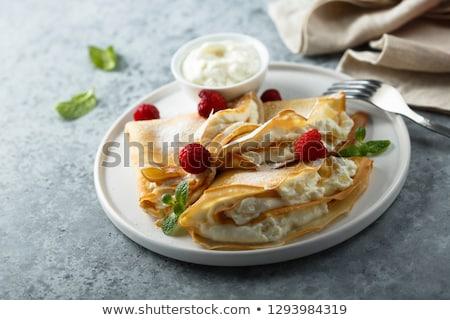 Fragole panna montata piatto colazione dolce Foto d'archivio © Digifoodstock