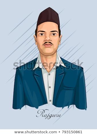 Indian background with Nation Hero and Freedom Fighter Shivaram Rajguru Pride of India Stock photo © vectomart
