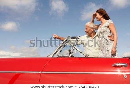 Спортивный автомобиль указывая человека весело транспорт Сток-фото © IS2