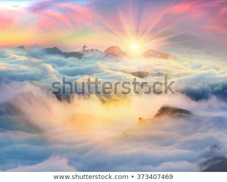 雲 谷 森林 日没 山 キプロス ストックフォト © Mps197