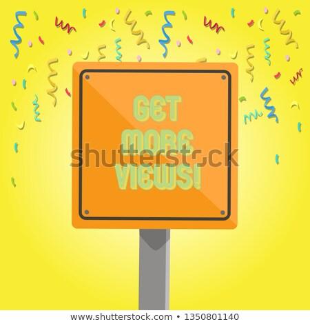 больше дорожный знак иллюстрация дизайна графических интернет Сток-фото © alexmillos