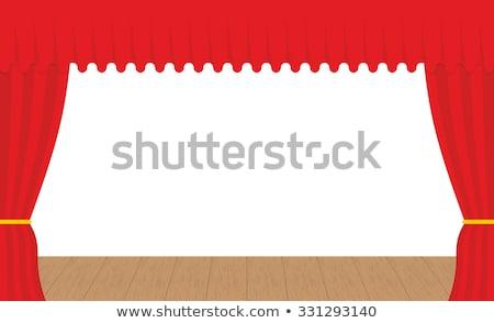 Boş sahne açık kırmızı perde perde Stok fotoğraf © popaukropa