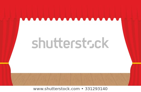 Vazio etapa ao ar livre vermelho cortina cortinas Foto stock © popaukropa