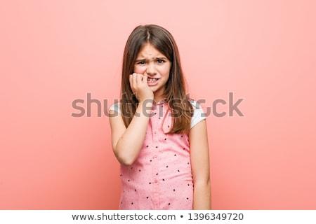 biting fingernails stock photo © stevanovicigor