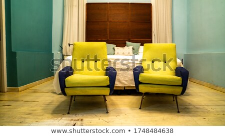Old-fashioned bed with curtains Stock photo © IS2