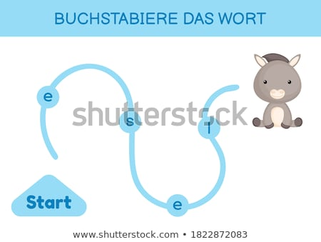 Laberinto qué burro educativo juego ninos Foto stock © Olena