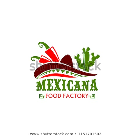 mexican food icon traditional cuisine of mexico fastfood cafe stock photo © terriana