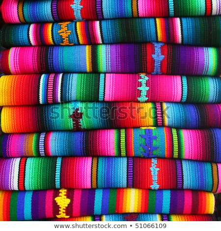 colorful blankets in a market stock photo © lana_m