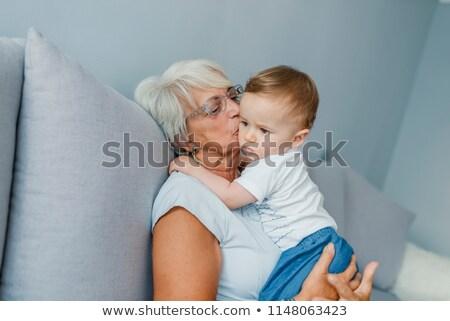 Senior Großeltern Baby Enkel Stock foto © IS2