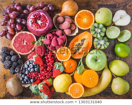 Fresh assorted fruits and berries stock photo © Melnyk