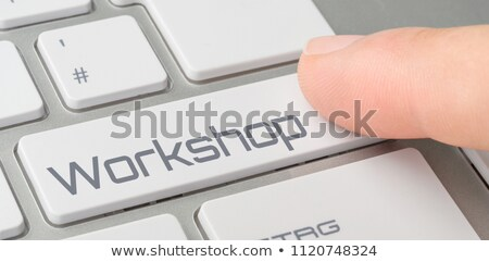 ストックフォト: キーボード · ボタン · ワークショップ · インターネット · 学校 · 会議