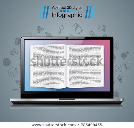Digital gadget, notebook, book, read, ebook, bookreader icon. Stock photo © rwgusev