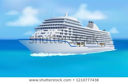 Groot cruise oceaan blauwe hemel stijl familie Stockfoto © MarySan