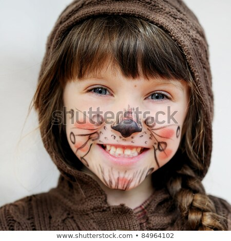 Portrait of brunette with painted face Stock photo © acidgrey