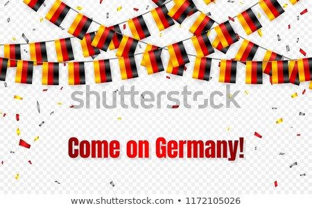 Alemanha bandeiras grinalda transparente confete dia Foto stock © olehsvetiukha