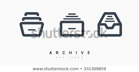 Vektor cseresznye katalógus ikon gyűjtemény Stock fotó © ordogz