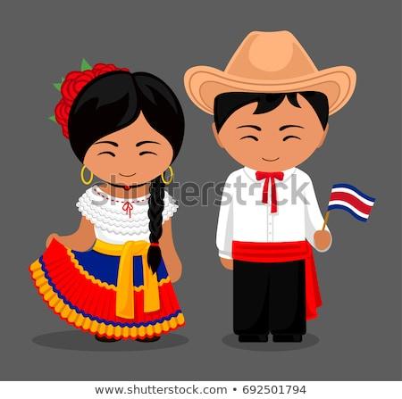 Spanish man  in traditional costume national dress vector flat i Stock photo © NikoDzhi