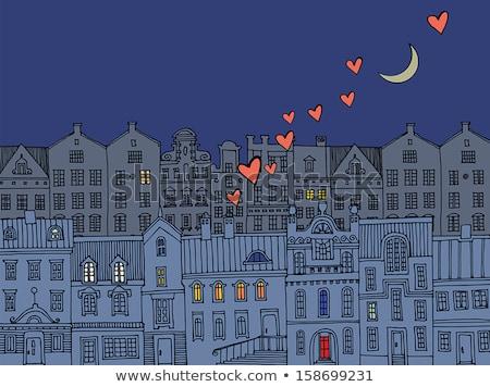луна жилье жилой недвижимости вектора искусства Сток-фото © vector1st