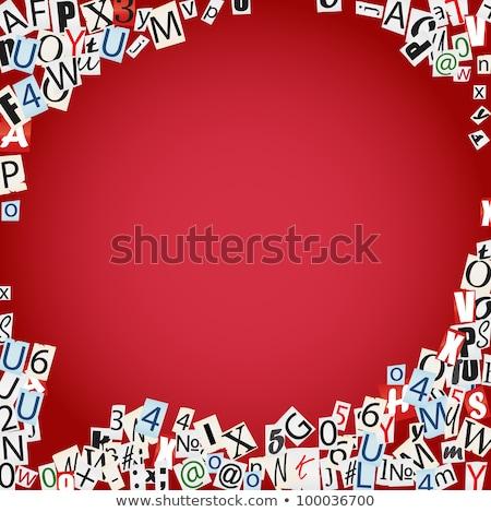 Engels woord lijm illustratie school Stockfoto © bluering