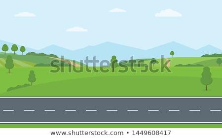út · nyár · illusztráció · tavasz · autópálya · vezetés - stock fotó © colematt