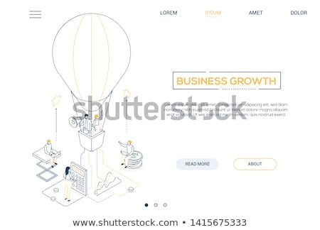 business research   modern isometric vector web banner stock photo © decorwithme